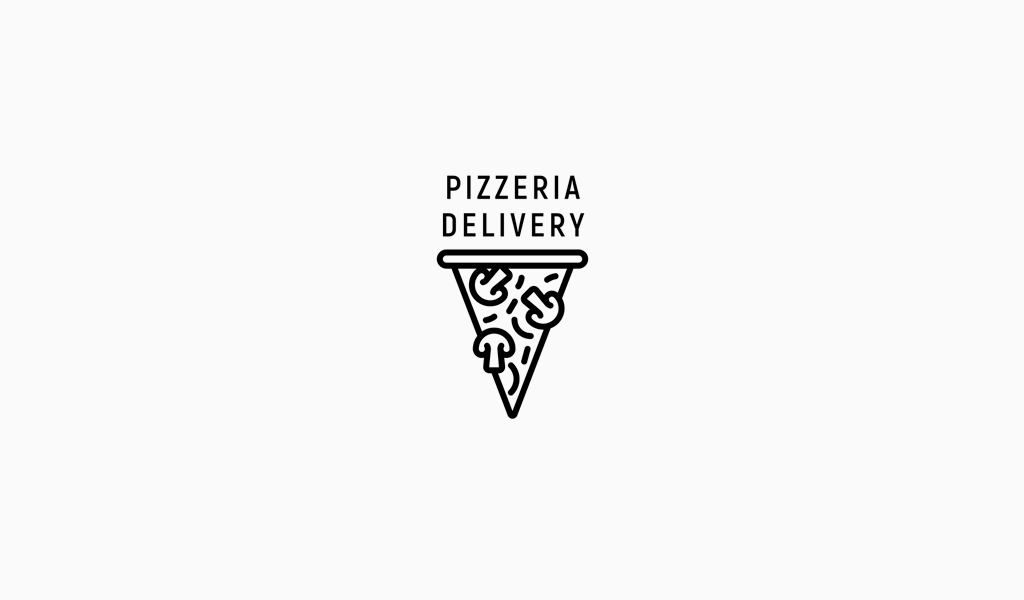 Логотип доставки пиццерия