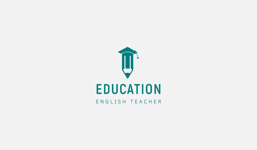Логотип учителя английских курсов