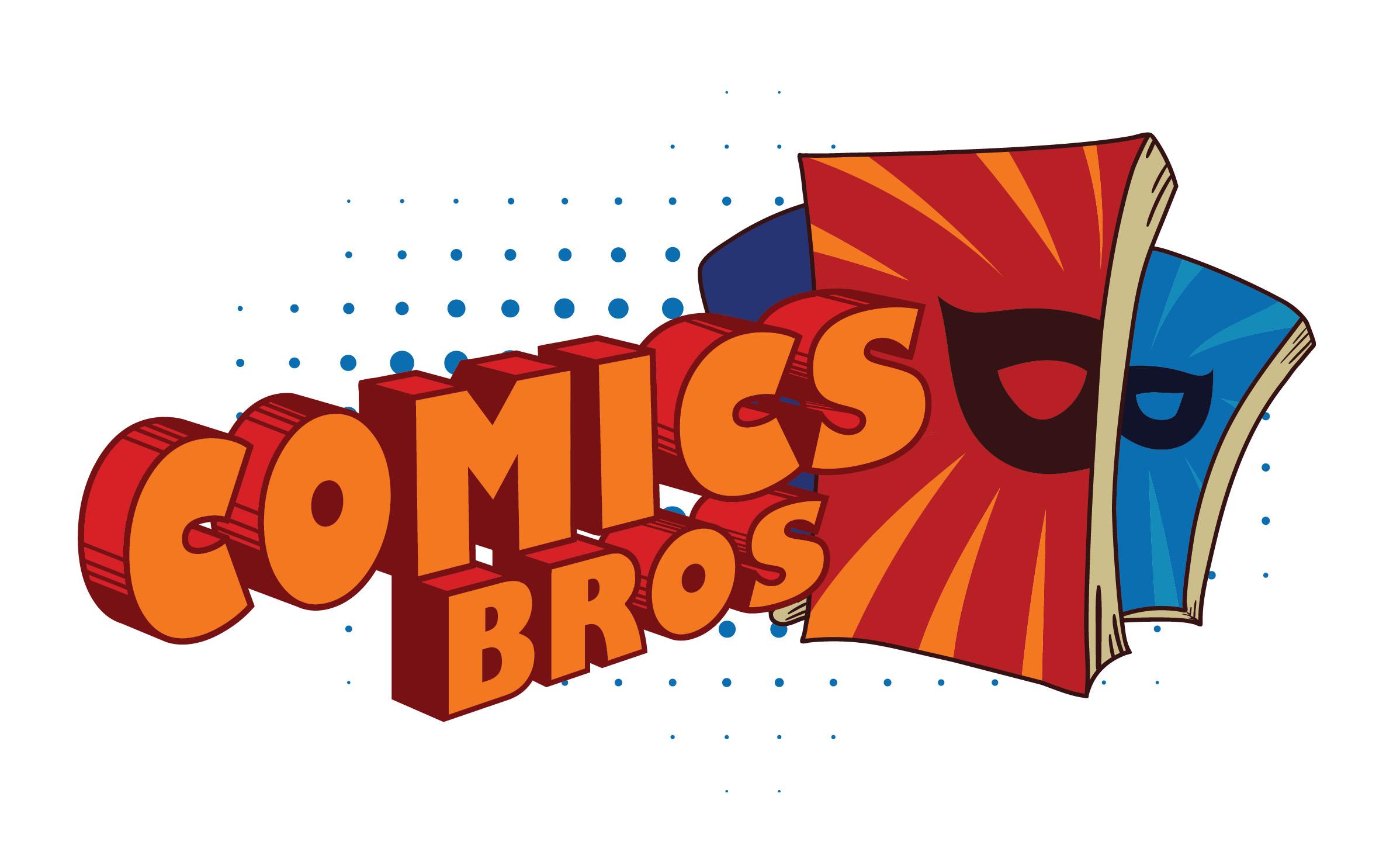 Логотип магазина комиксов