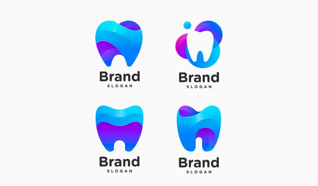 Примеры логотипов с градиентом