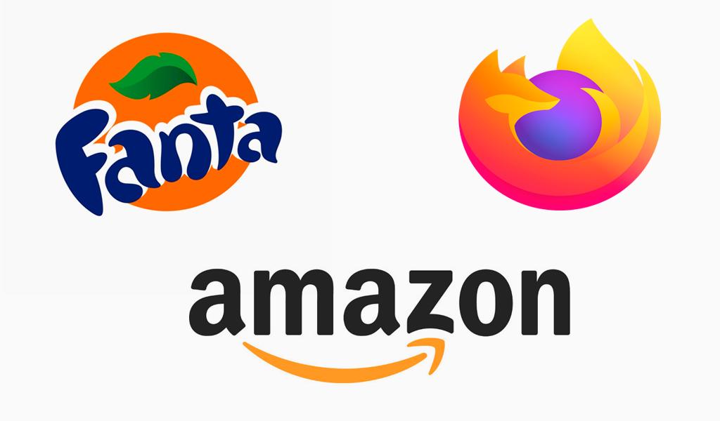 Оранжевые логотипы известных компаний