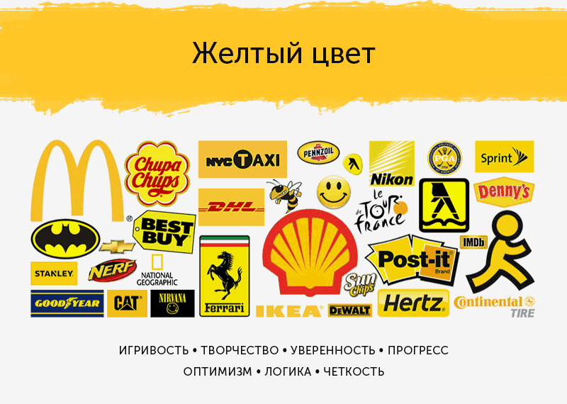 Желтые логотипы