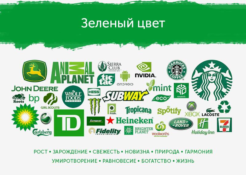 Зеленые логотипы