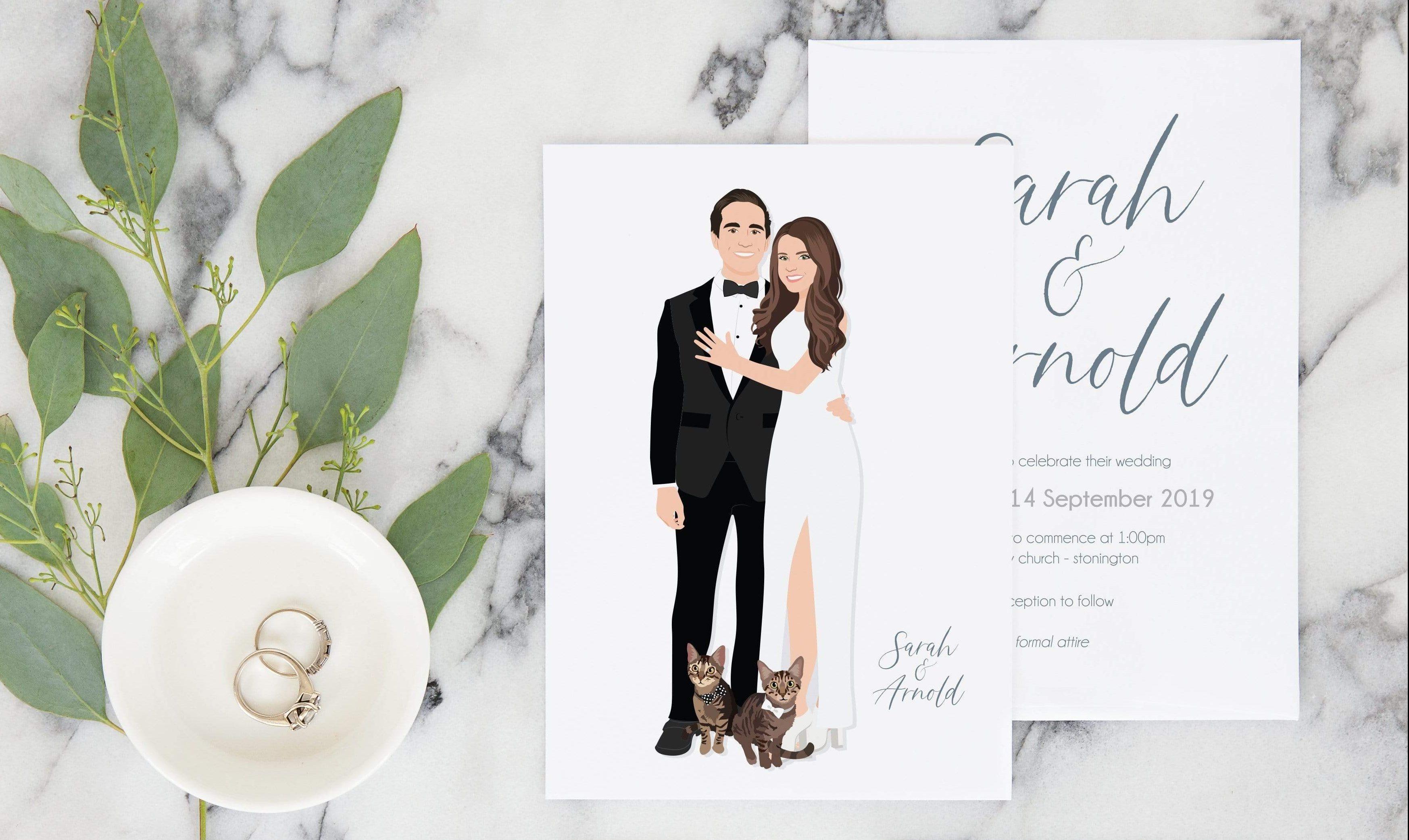 Дизайн пригласительных за свадьбу