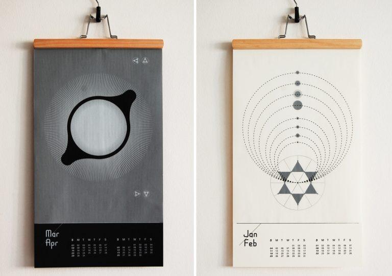 Креативный дизайн календаря