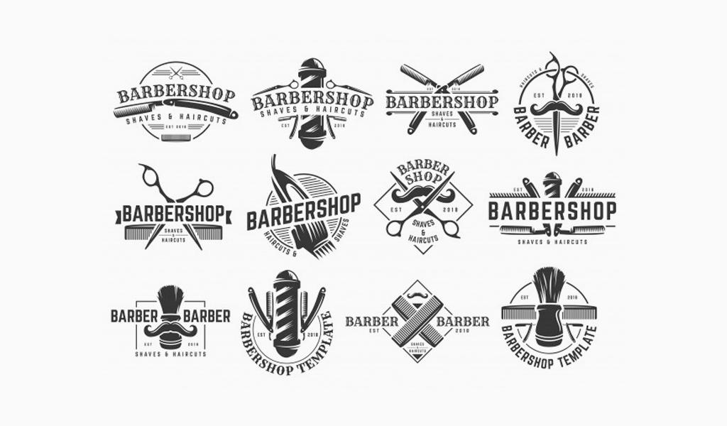 логотипы для барбершопа