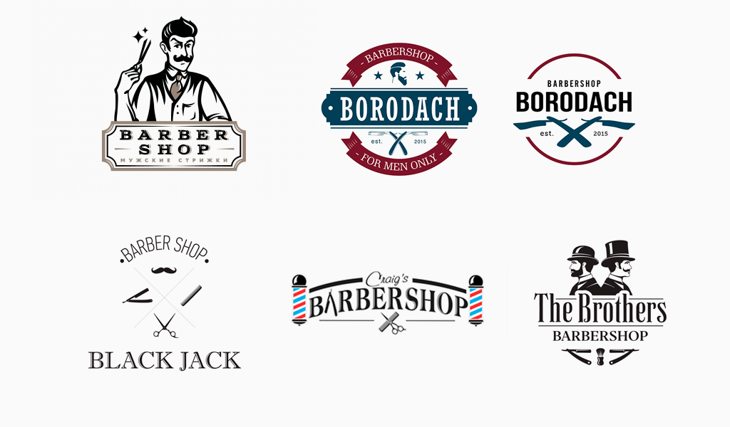 Логотипы барбершопа