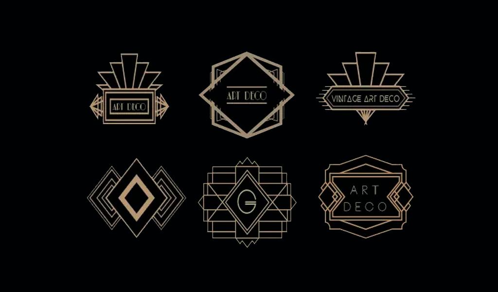 Логотипы арт деко
