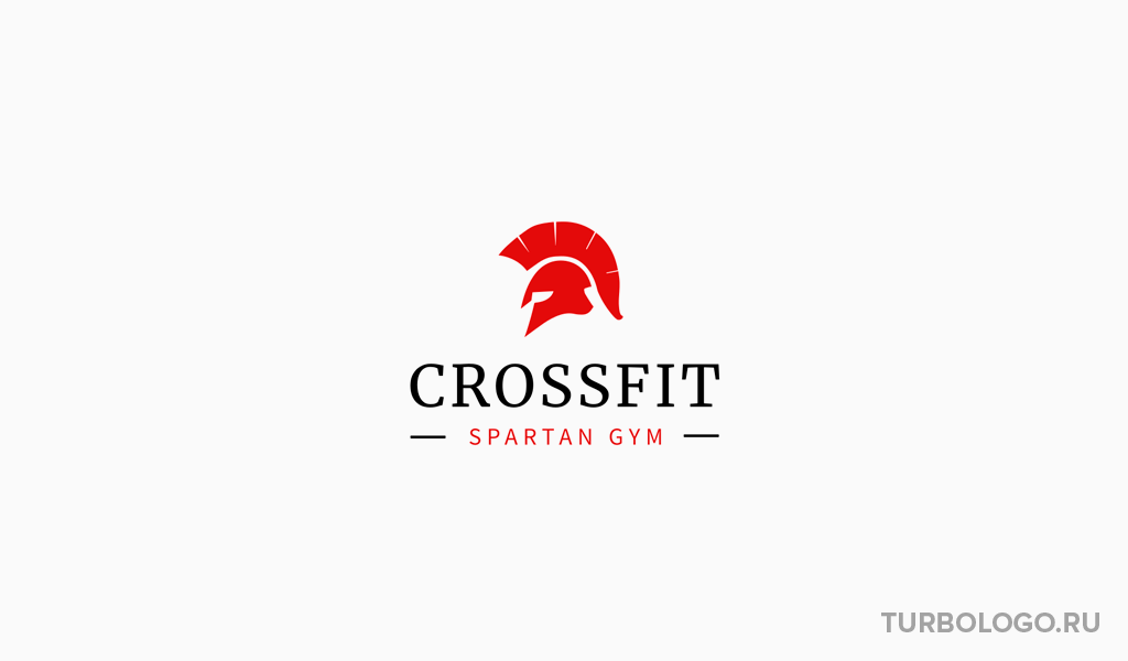 Логотип тренажерного зала шлем