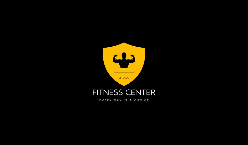 Логотип тренажерного зала спортсмен