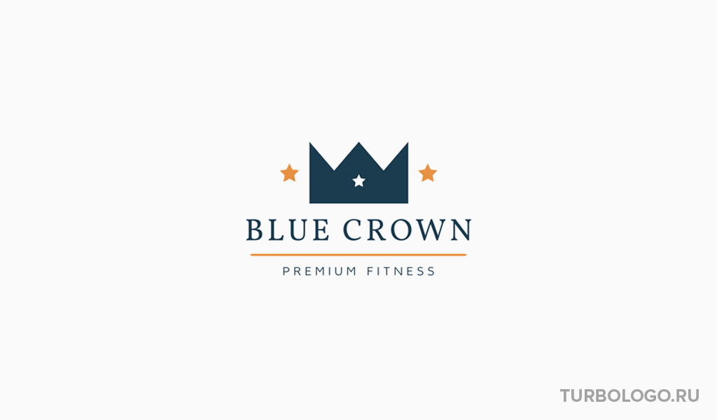 Логотип тренажерного зала корона