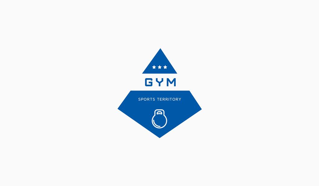Логотип тренажерного зала гиря
