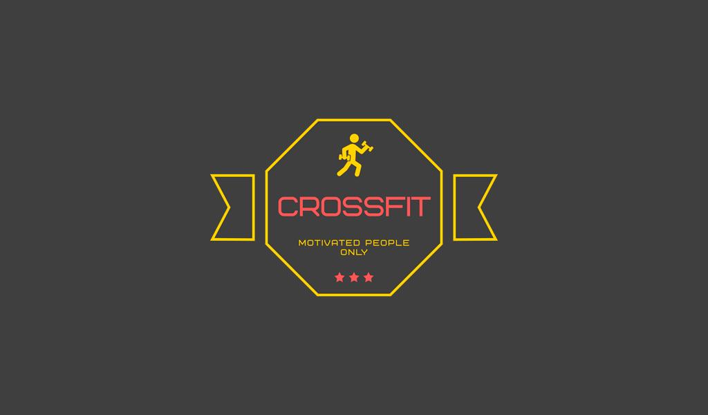 Логотип тренажерного зала кроссфит