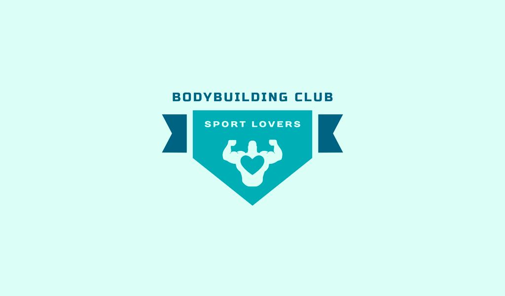 Логотип тренажерного зала бодибилдер