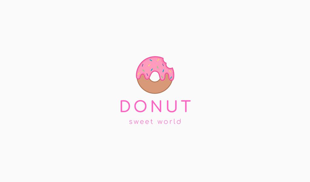 Логотип кондитерской пончик