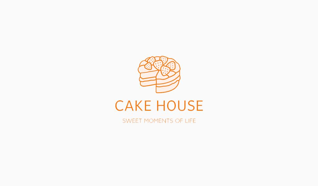 Логотип кондитерской пирог