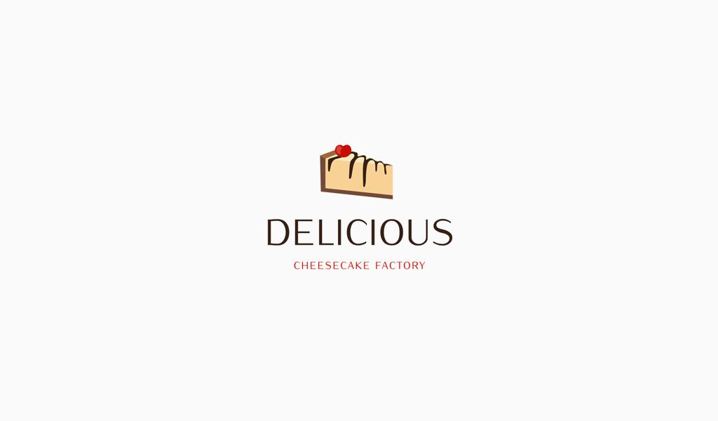 Логотип кондитерской чизкейк