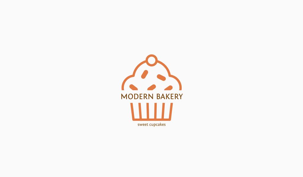 Логотип кондитерской кекс
