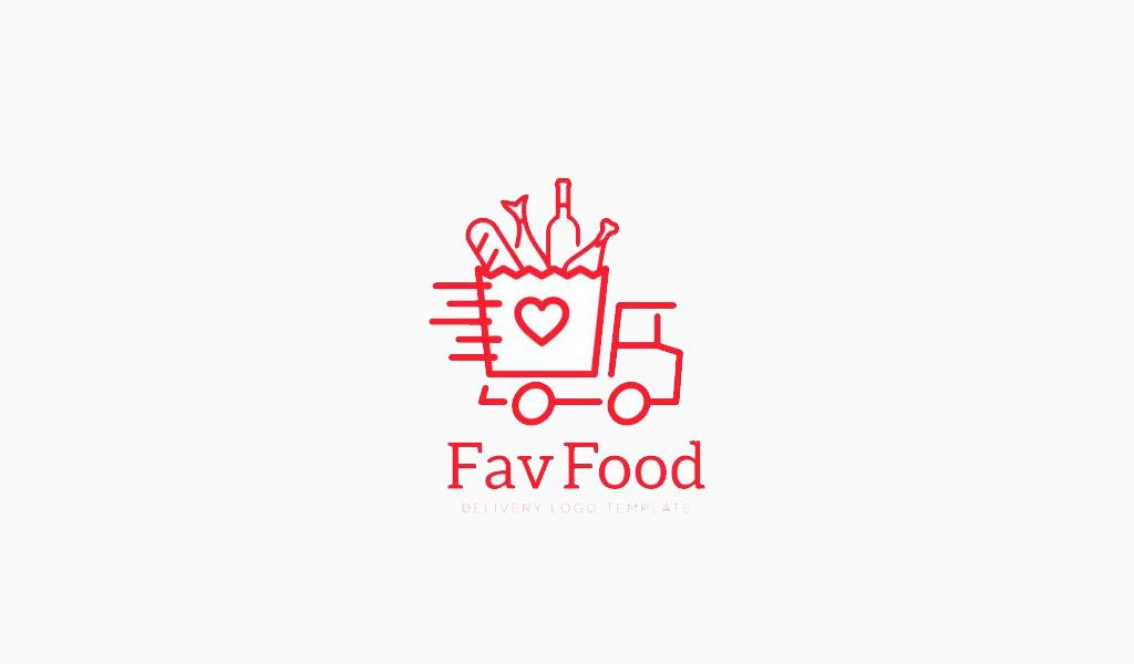 Логотип для доставки грузовик