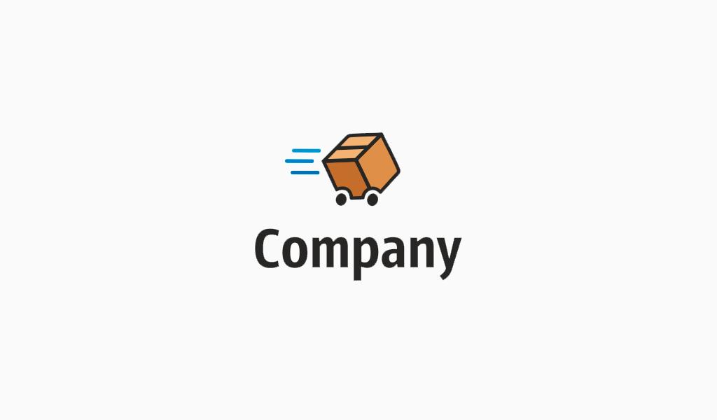 Логотип для доставки коробка