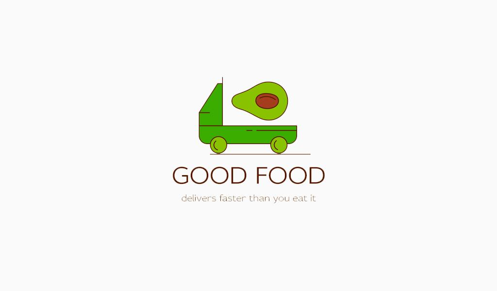 Логотип для доставки авокадо