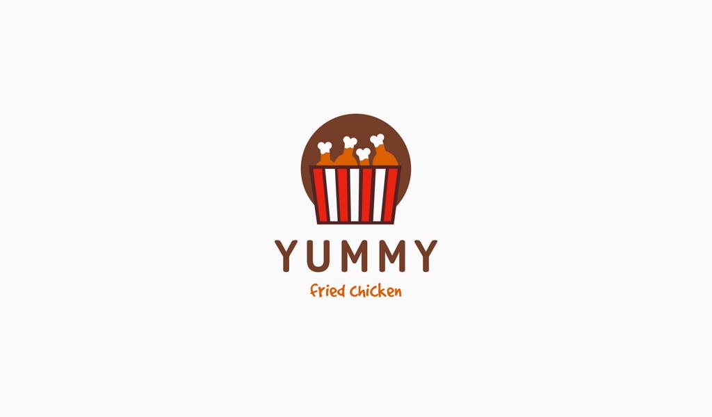 Логотип для кафе жареная курица