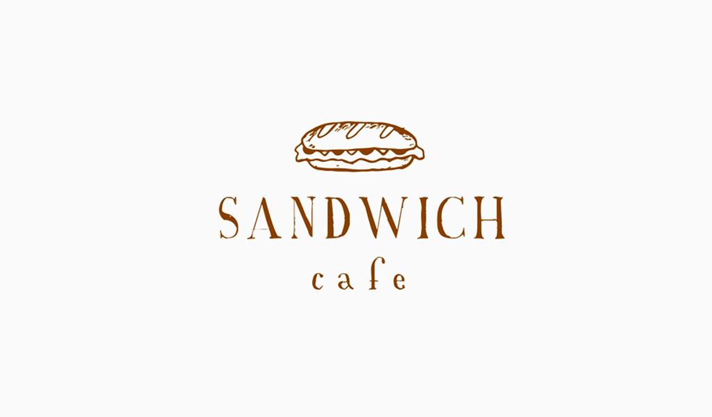 Логотип для кафе сендвич