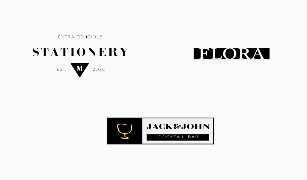 Модерн логотипы