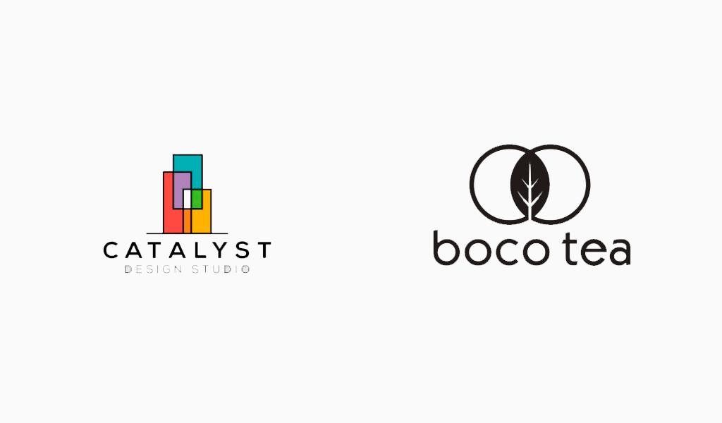 Логотипы в стиле модерн