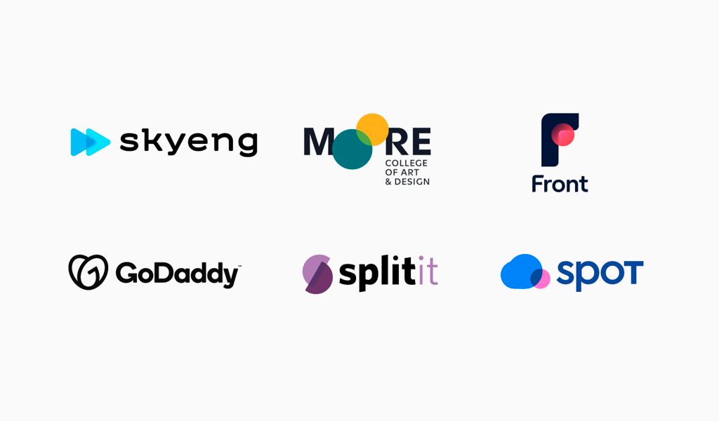 Логотипы с пересекающимися элементами