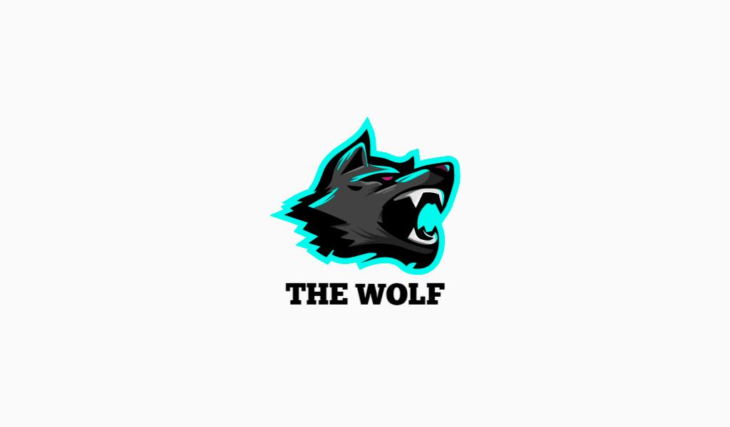Логотип для Twitch волк