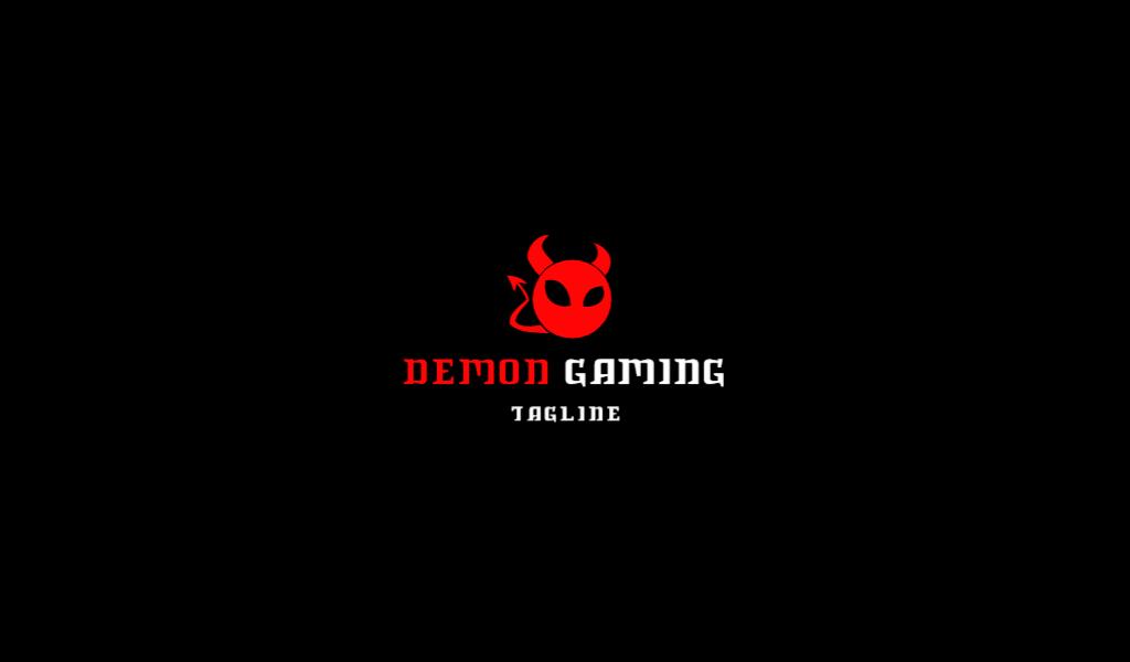 Логотип для Twitch демон