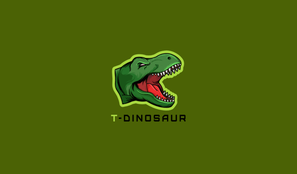 Логотип для Twitch динозавр