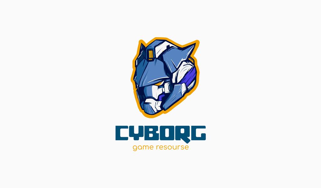Логотип для Twitch киборг