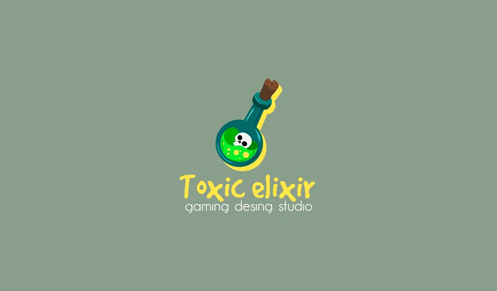 Игровой логотип яд