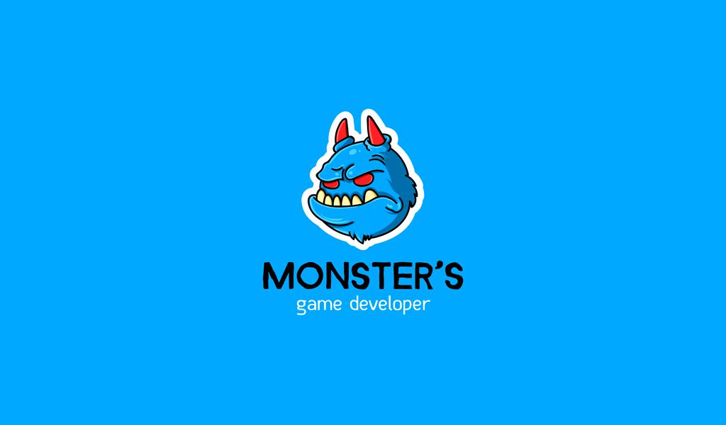 Игровой логотип монстр