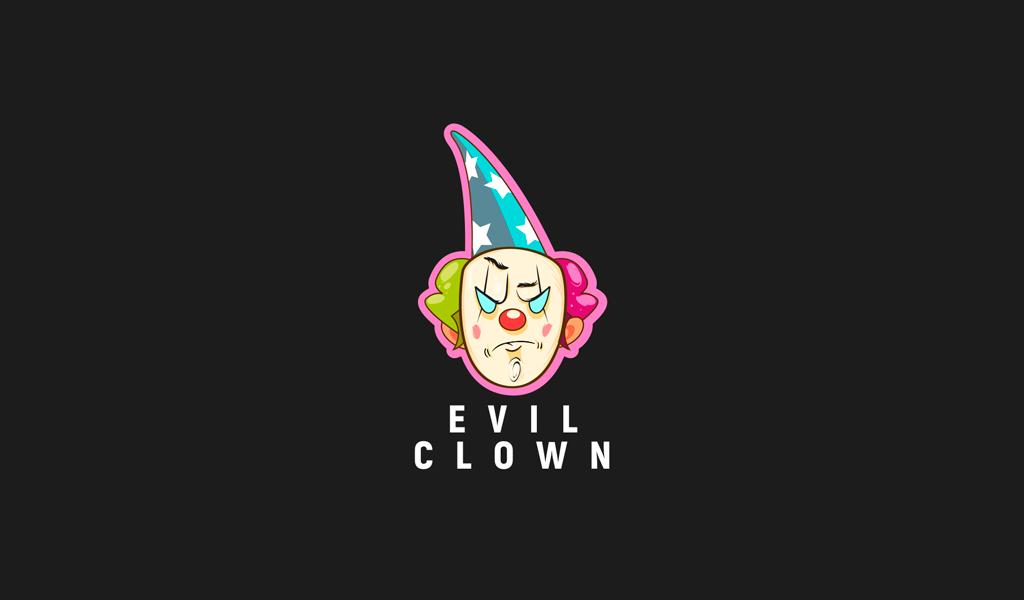 Игровой логотип злой клоун