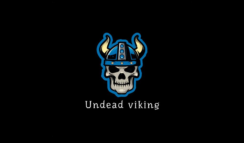 Игровой логотип викинг