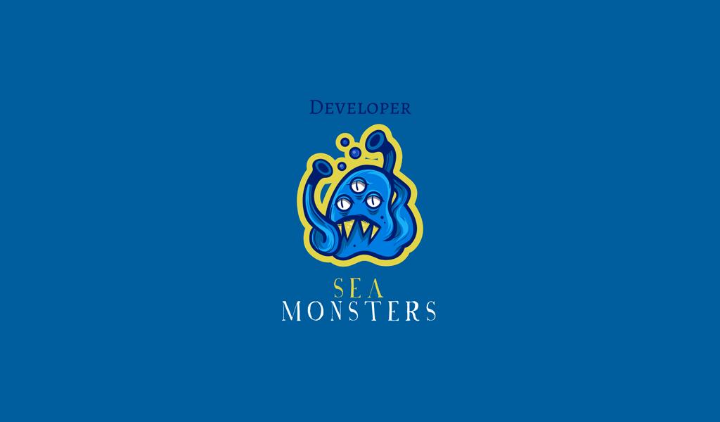 Игровой логотип морское чудовище