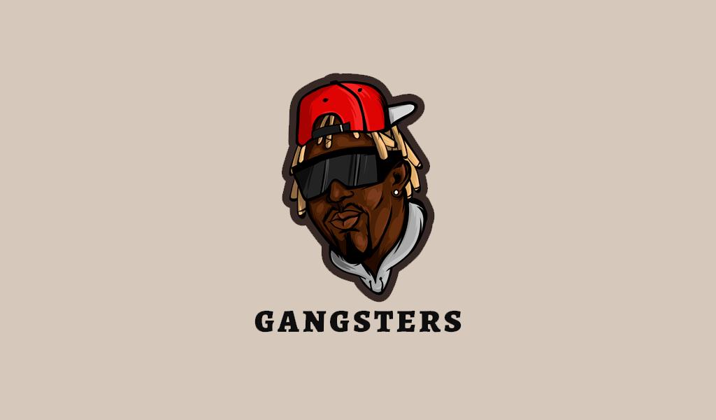 Игровой логотип гангстер