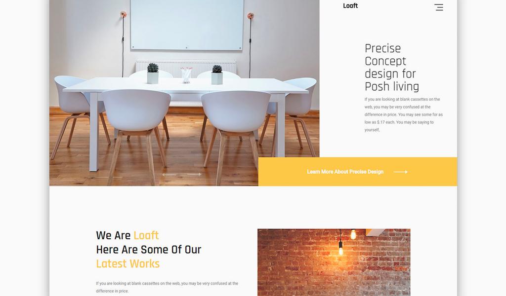 Ассиметричный дизайн сайта