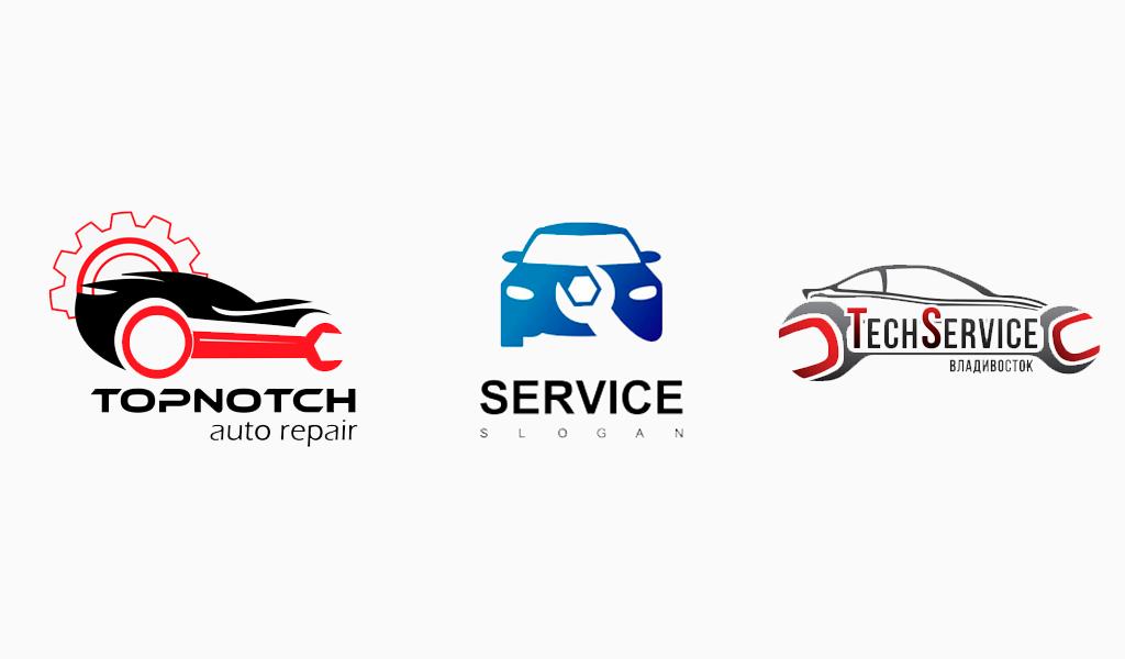 Шрифты логотипа автосервиса