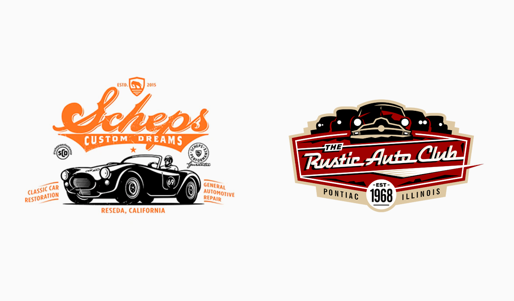 Винтажные логотипы автосервиса