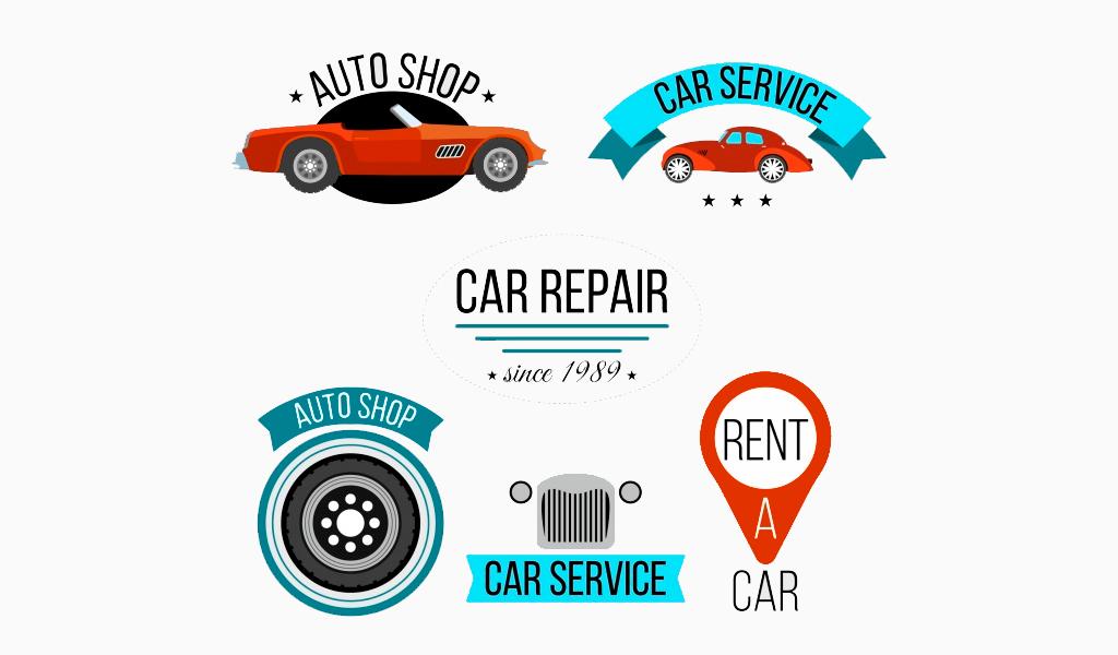 Примеры дизайна логотипов автосервиса