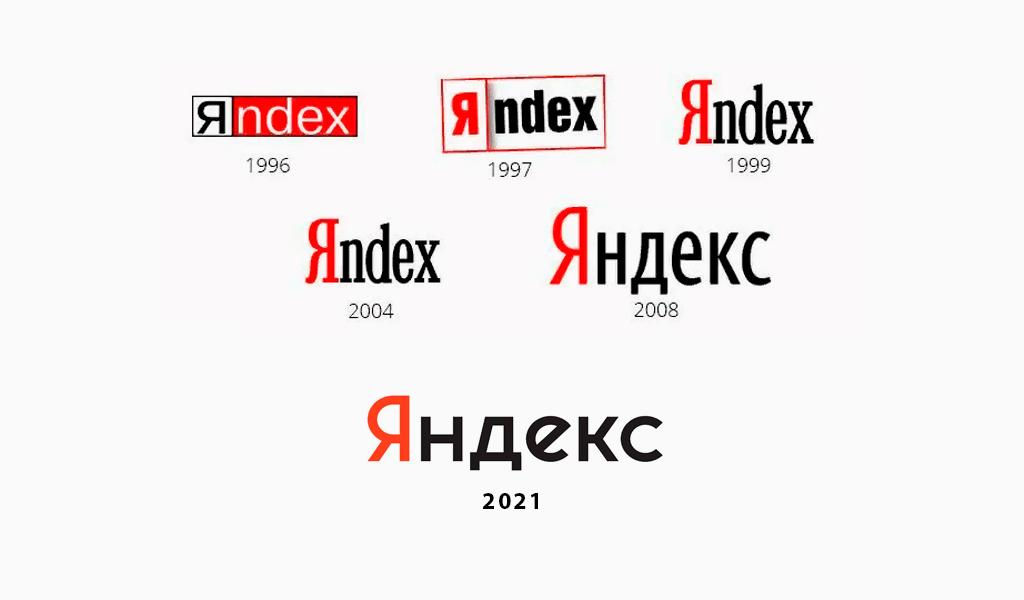 Логотипы Яндекс разных годов