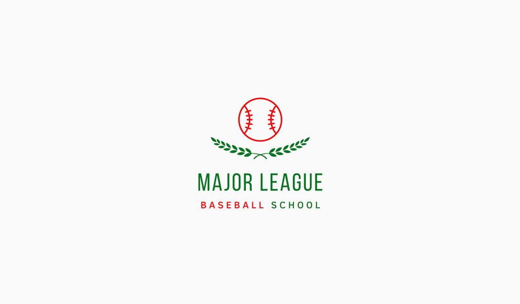 Логотип бейсбольной спортивной команды: мяч