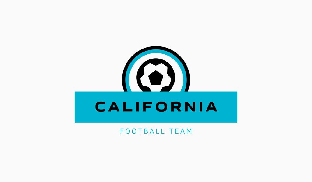 Логотип футбольной спортивной команды: абстрактный мяч