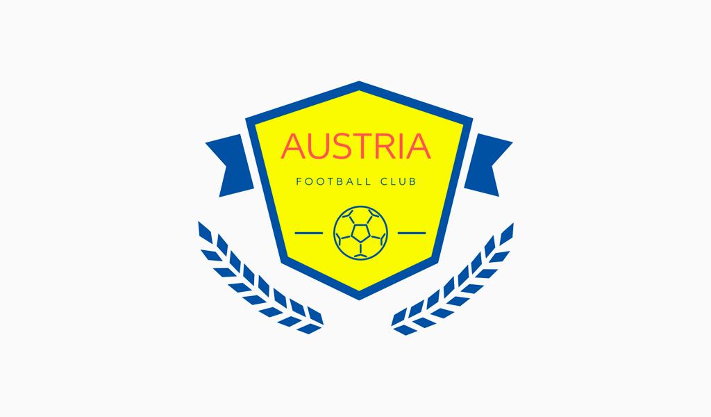 Логотип футбольного клуба с щитом и мячом