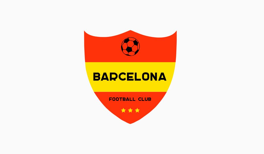 Логотип футбольного клуба с мячом
