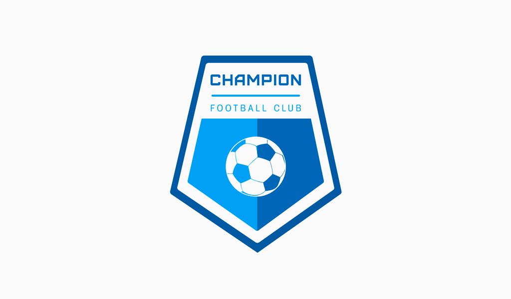 Логотип футбольный спортивной команды: футбольный мяч